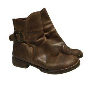 Fly London Camel Brown Ning Rug Biker Ankle Boots
